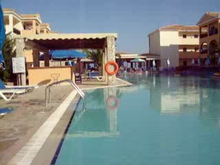 Alykanas, Greece: pool first thing in a morning