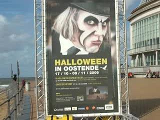 Halloween In Oostende 2020 Halloween Poster on Ostend Beach Promenade   Video of Ostend, West