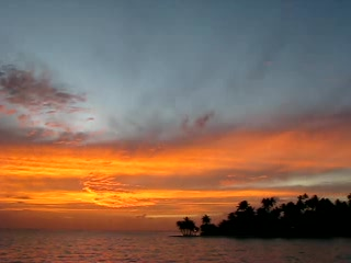 Tahaa, French Polynesia: Watching the sunset on Le Taha'a