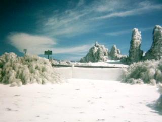Caldera de Taburiente National Park: Hielo en El Roque de Los Muchachos