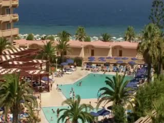 Ialyssos Greece Sun Beach Resort Complex Video