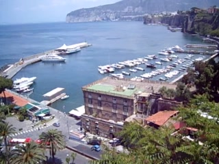 Sorrento, Italien: views of the harbour