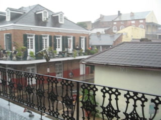 Le Richelieu in the French Quarter: Le Richelieu Hotel Storm on Deck
