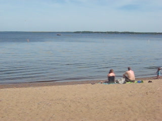 Isle, Миннесота: Beach at Father Hennepin State Park