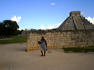 Backpacker's Hostelling Center & Champ's Sports Bar: Isabel at Chichen Itza