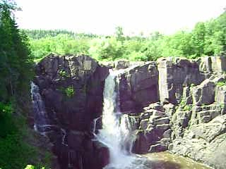 150 foot falls. Highest in Minn. Pigeon Falls