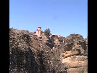 Kastraki, Greece: Meteora view from the the top seeing the monasteries