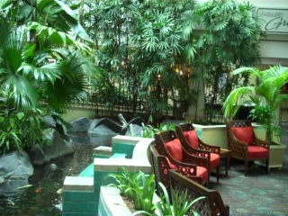 Embassy Suites by Hilton Walnut Creek: Everyone enjoys our  Japanese Fish and beautiful tropical atrium