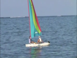 Small Hope Bay Lodge: Hobie Cat Sail Boat