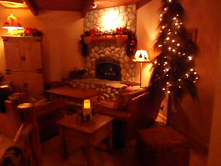 Firelight & Twinkle Lights - Firefly Lodge at Christmas