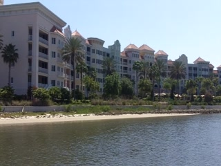Yacht Harbor Village at Hammock Beach: View of the Yacht Harbor from a Boat