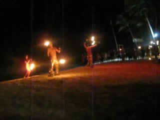 Boracay, Filipinas: Video: Fire dancing