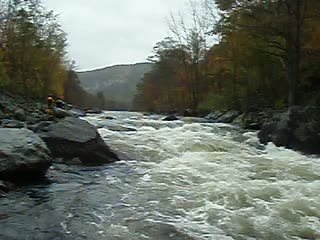 Charlemont, MA: John's Carnage Line Through Zoar Gap Rapid