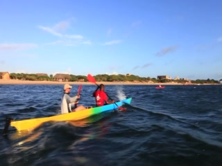 Kayaking in the mangrove creek of the Majlis Hotel in Lamu Island
