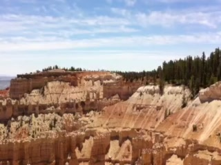 Trail going from Bryce Point to Inspiration Point, Bryce Canyon