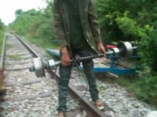 เสียมราฐ, กัมพูชา: Bamboo railway  Siem Reip