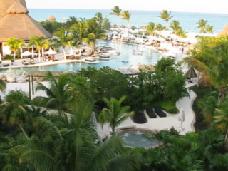 Secrets Maroma Beach Riviera Cancun: View from Our Ocean View Balcony, Preferred Club