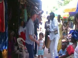 Busker in Senegambia Craft Market