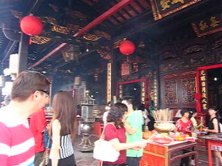 Central Melaka District, Malasia: Heritage temple during Chinese New Year (Changing luck custom) part 1