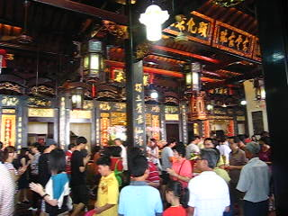 Central Melaka District, Malasia: Heritage temple during Chinese New Year (Changing luck custom) part 2