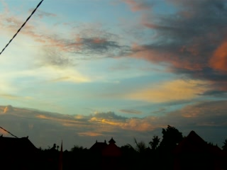Sunset at Jangkrik Homestay