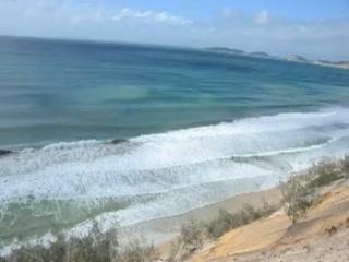 Rainbow Beach, Australia: CARLO SAND BLOW VIDEO