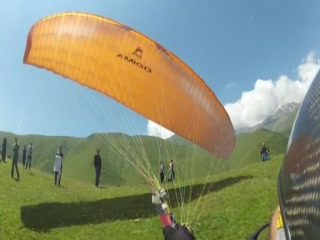 Tbilisi attraction - tandem paragliding - Video of Fly