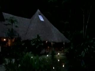 Esquinas Rainforest Lodge at night