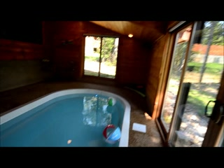 Smoky Cove Chalet and Cabin Rentals: Private Indoor Swimming Pool in Honeymoon Cabin