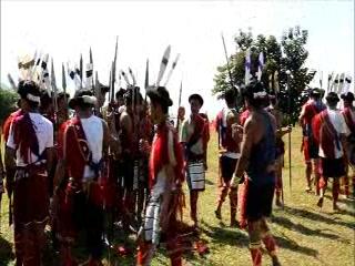 Sema Tribe Ahuna Festival rehearsal - Nagaland, India
