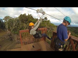 Kapalua Ziplines : Gliding across Maui