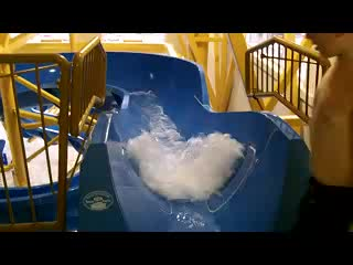 Delta Beausejour Hotel: Going Down the Waterslide