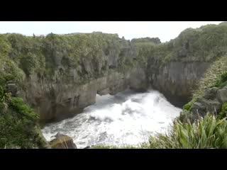 Furia de la naturaleza en Punakaiki