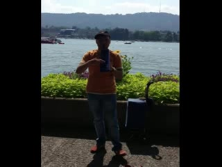 Nice Music from Lake Zurich promenade