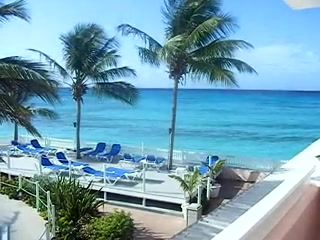 Maxwell, Barbados: wonderful view first thing in the morning