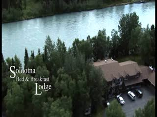 Alaska Fishing Lodge - Soldotna Bed and Breakfast Lodge: Aerial Video of Lodge