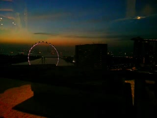 Pan Pacific Singapore: Sunrise from the Pacific Club
