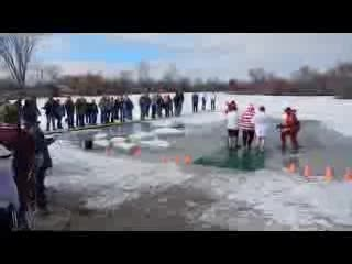 Penguin Plunge 2014 Eagle Island Pond