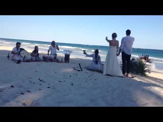 Be Tulum Hotel: A Mayan wedding on the beach.