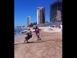 Мазатлан, Мексика: Austin - parasailing start