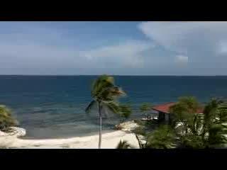 Hatchet Caye Resort - Panorama from the bird's nest!