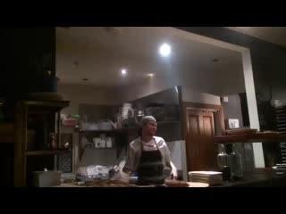 Vangionis Trattoria and Bar: Entertaining   chef