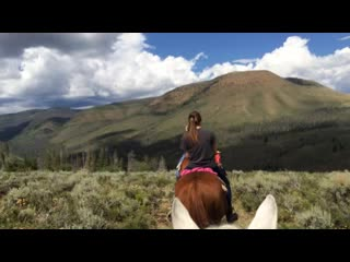 Riding the range, above Drowsy Water Ranch
