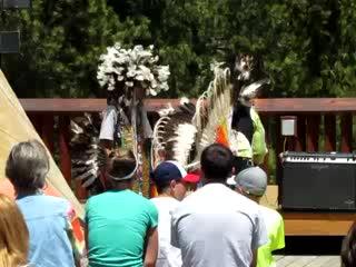 Keystone, SD: Dancers at Crazy Horse Memorial