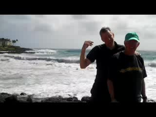 Kilauea, HI: Gary and his dad on our hike