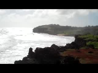Kilauea, هاواي: Looking back at where we hiked from