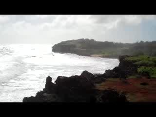 Kilauea, HI: Looking back at where we hiked from