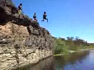 cliff jumping at the Breede River - stonehill River Lodge