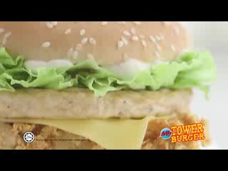 Marrybrown - AK Plaza: How Tower Burger is made