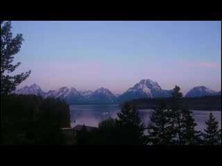 Time-Lapse: A Grand Teton Sunrise